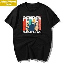 Модные футболки pew madafaks с черным котом и мультяшным принтом