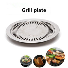 цена на Non-Stick Bakeware BBQ Pans Gas Grill Pan Household & Outdoor Party Gas Stove Indoor Kitchen Barbecue Pan Smokeless