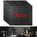 12 stücke Ziegel Schaum Panels 3D Wand Aufkleber Selbst-adhesive DIY Geprägte Stein Tapete Wohnkultur Wohnzimmer Küche dekoration