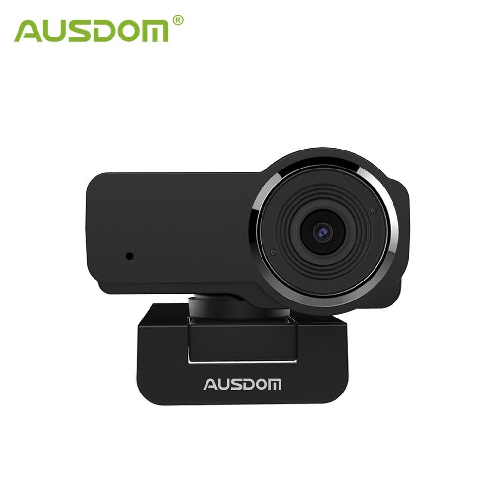AUSDOM AW635 HD Webcam 1080P הזרמת אינטרנט מצלמה עם מיקרופון אוטומטי אור תיקון מחשב מצלמות עבור OBS סקייפ YouTube