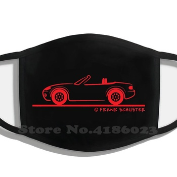 Mazda Miata Mx-5 Nb Design Black Breathable Reusable Mouth Mask This Product Is For The Mazda Miata Nb Enthusiast If You Have A image