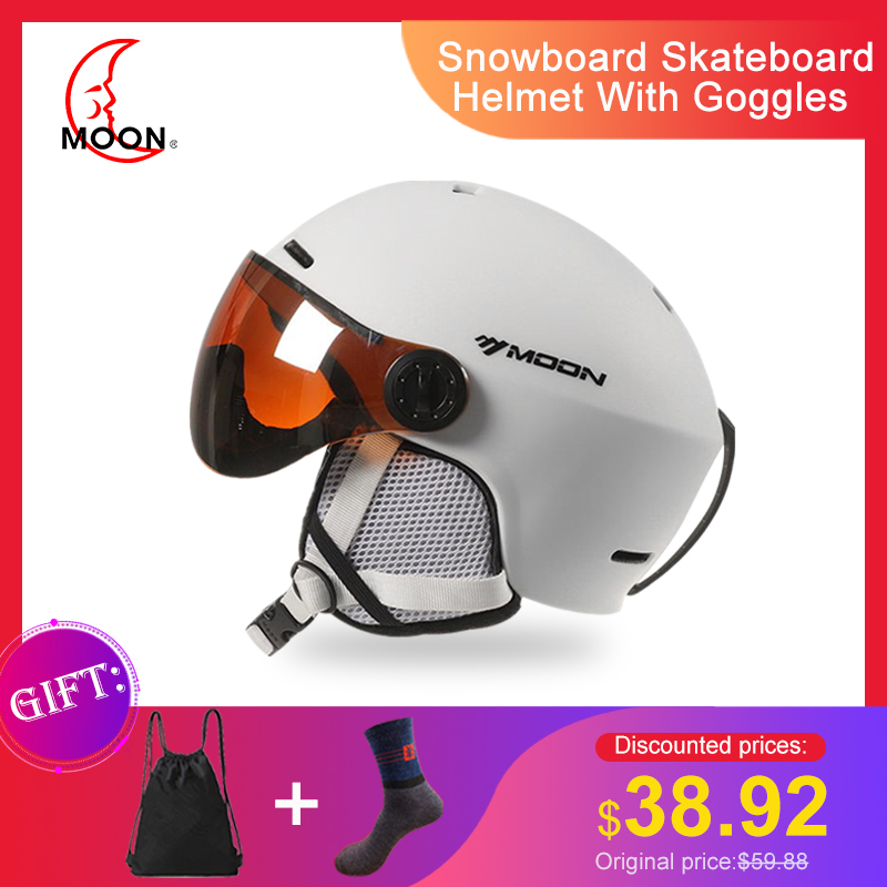 Ski Helmet MOON Integrally-Molded PC+EPS Colorful Skiing Helmet Outdoor Sports Snowboard Skateboard Helmet With Goggles Skihelm