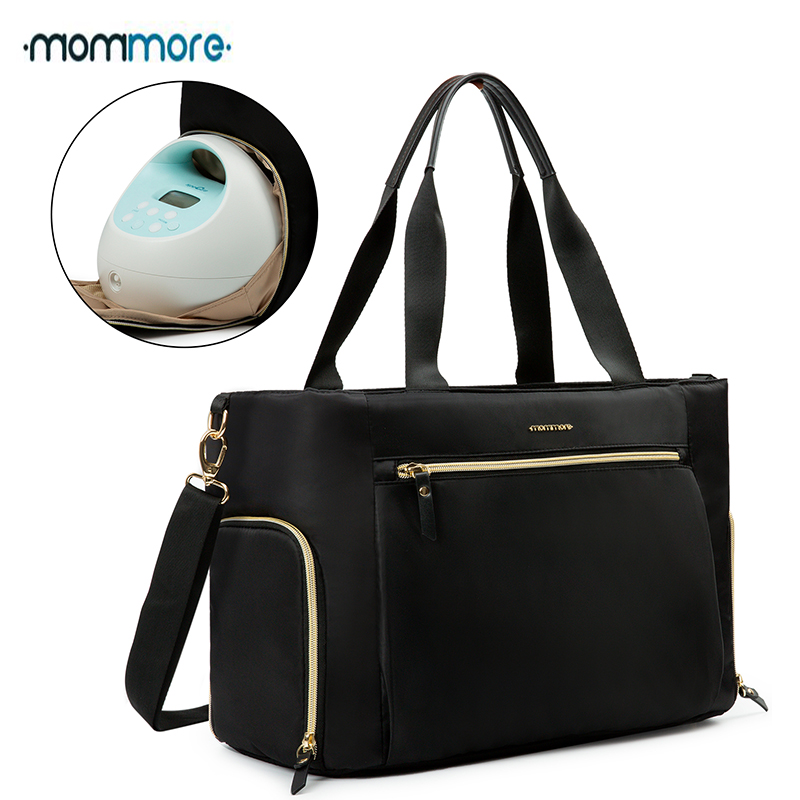 Mommore Breast Pump Bag Diaper Tote Bag For 15 Inch Laptop Fit For Most Breast Pumps Like Medela, Spectra S1,S2, Evenflo