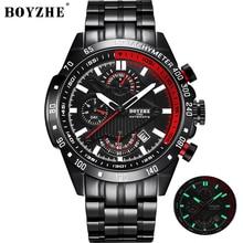 BOYZHE Sport Automatic Watch Men Mechanical Day date