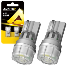 AUXITO 2x NEW T10 W5W LED Bulbs 168 194 2825 LED 5630 SMD Lamp for Car Interior Lights Dome Trunk Reading Light Yellow White Red