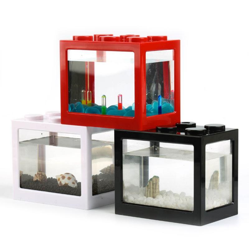 Betta Fish Fighting Cylinder Rumble Fish Cylinder Mini Aquarium Building Block Fish Tank