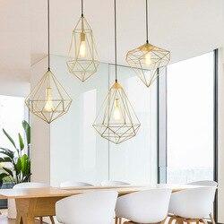 Żyrandol europa północna zwięzłe kute lampy i latarnie nowoczesna oryginalność restauracja salon Study Bar
