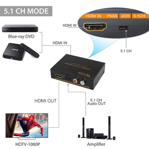 Image 5 - Wiistar hdmi to hdmi &R/L& spdif audio with 2.1/5.1ch hdmi audio extractor free shipping