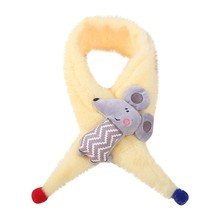 Маленький детский шарф с мышкой, Детский плюшевый мультяшный милый шарф с крестиком, шарф женский шарф, femme bufandas invierno mujer