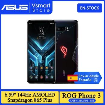 Global ROM ASUS ROG PHONE 3 Snapdragon 865 Plus 5G Moble Phone 12GB 128GB 6.59'' 144Hz AMOLED 6000mAh Game Phone NFC