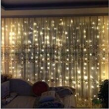 6m 600 led casa de férias ao ar livre natal decorativo casamento natal string guirlandas cortina de fadas tira luzes festa