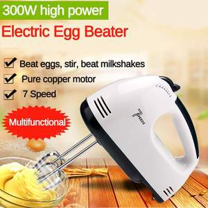 Manual Mini 7 Speed Dough Hand Mixer Food-Blender Handheld Multifunctional Food Processor Automatic Electric Kitchen Mixer Tool
