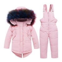 Children's down Jacket Set 1 5 Years Old Girl's down Overall Two Piece Set Baby Boy Infant Padded Jacket