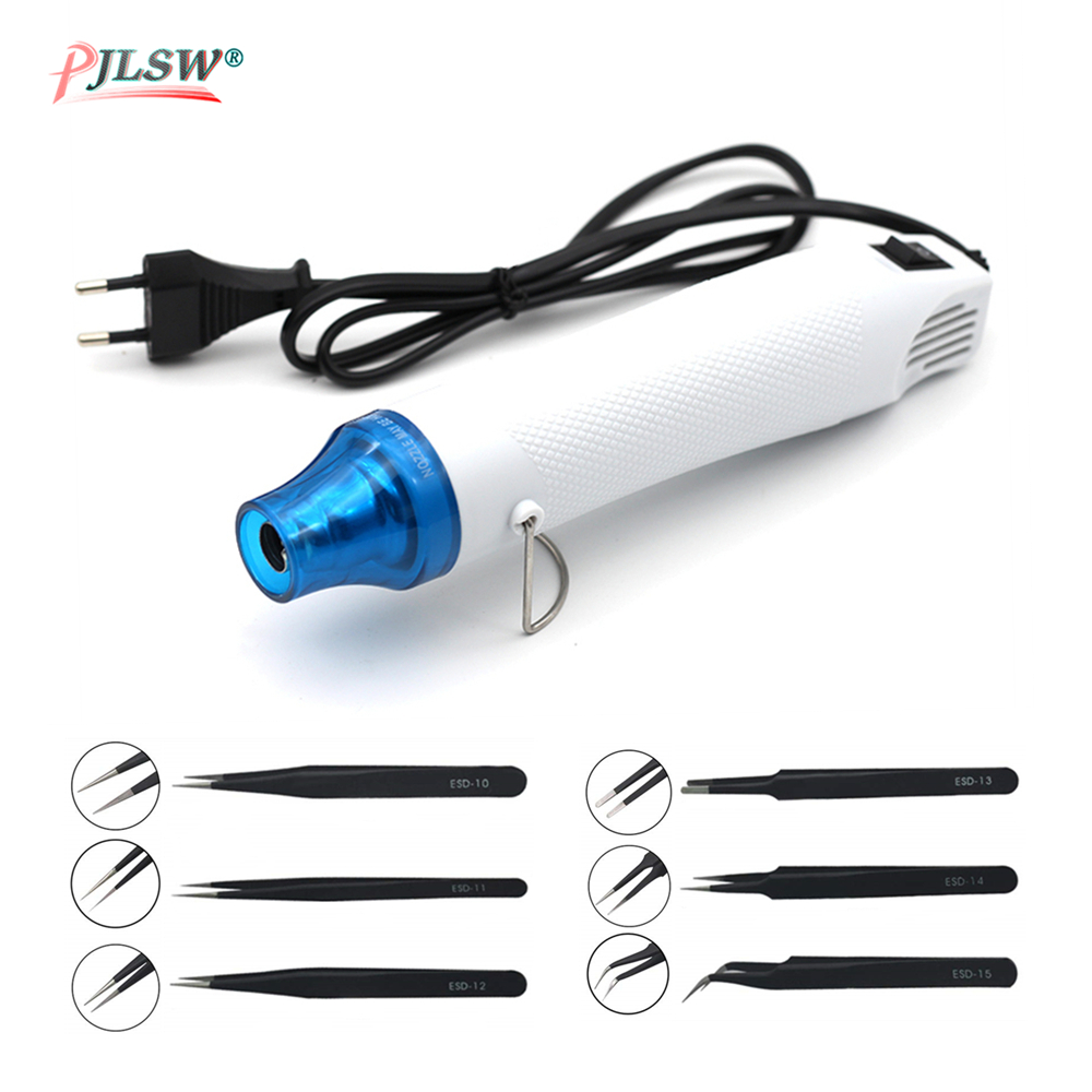 PJLSW DIY Hot Air Gun Power Phone Repair Tool Hair Dryer Soldering Supporting Seat Shrink Plastic Air Heat Gun US/EU Plug