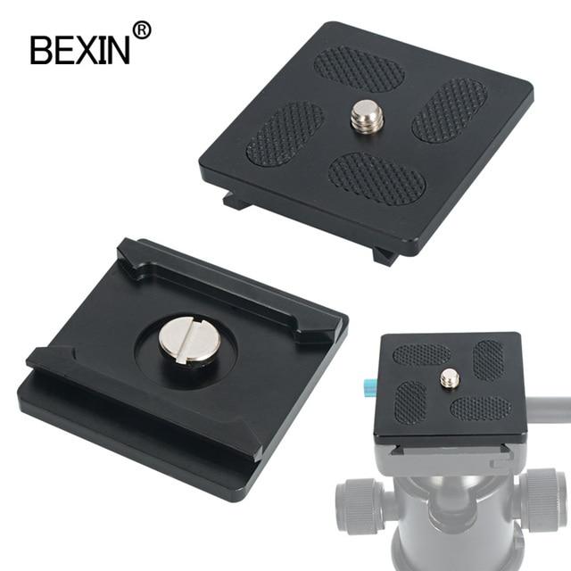 QR01 kamera plakası quick release plate tripod kafa montaj plakası kamera standı ile 1/4 inç dslr kamera için vida arca isviçre kelepçe