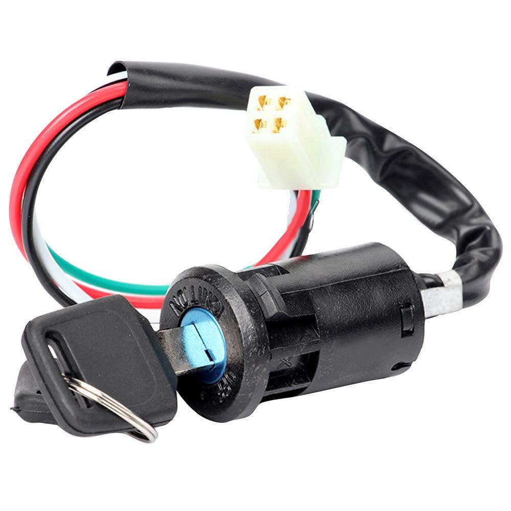 1 pçs preto universal modificado start interruptor de ignição fechadura da porta elétrica chave para fora-estrada motocicleta atv acessórios do carro
