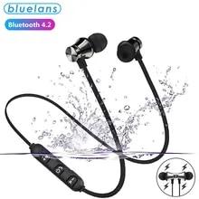 Bluetooth Earphone Music Headset Phone-Neckband Sport-Earbuds Xiaomi Samsung Magnetic Wireless