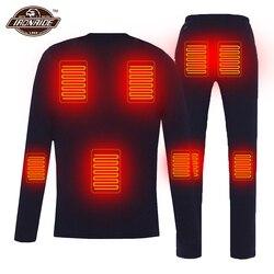 Winter Beheizt Jacke Männer Frauen Motorrad Heizung Jacke Elektrische USB Heizung Thermische Unterwäsche Set Shirt Top Kleidung M-4XL # #