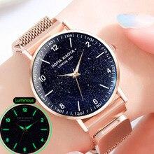 Women Bracelet Watch Magnetic Starry Sky Watch