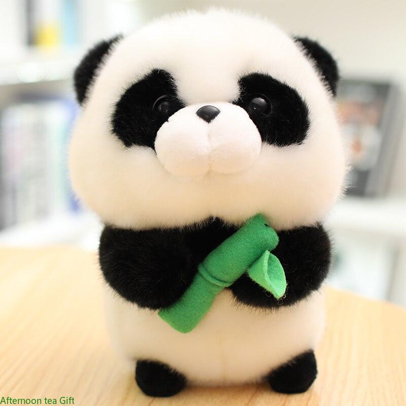 Плюшевая игрушка панда, хомяк, белка, мягкие куклы, кукла для мальчиков и девочек, подарок на день рождения, домашнее украшение