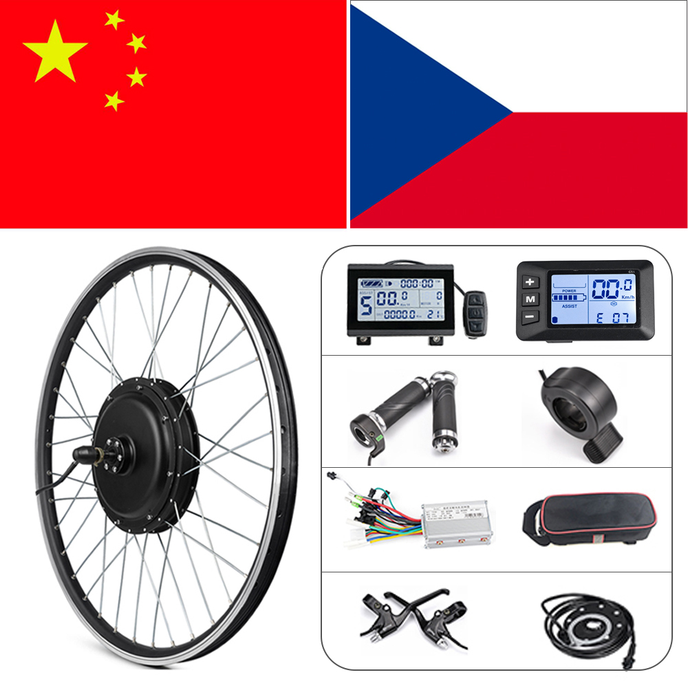 Ebike Conversion Kit 20in 26in 1500W Hub Motor Wheel Kit 36V 48V 350W 500W Front Rear Wheel E Bike Conversion Kit With S830 LCD3