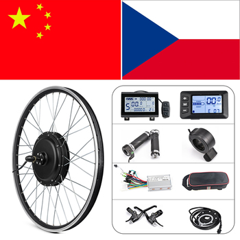 36v 48 250w 350w 500w 750w 1000w 1500w electric bike conversion kit controller with lcd5 lcd3 and color display lcd8s Ebike Conversion Kit 20in 26in 1500W Hub Motor Wheel Kit 36V 48V 350W 500W Front Rear Wheel E bike Conversion Kit With S830 LCD3