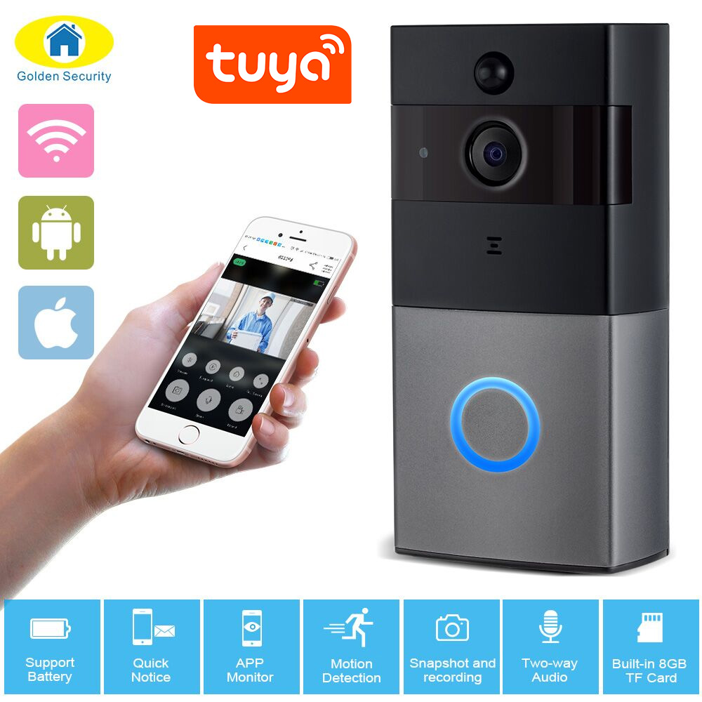 720P/1080P HD Video Intercom Doorbell Wifi Security Camera Real-Time Two-Way Talk Night Version Smart Wireless Doorbell