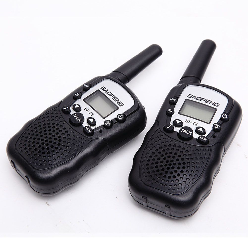 2PCS Walkie Talkie Ham PMR GMRS Radio Portable Handheld Small Lightweight Outdoor Two Way Intercom Transceiver For Baofeng T388