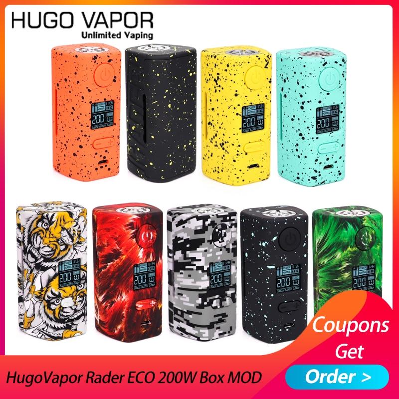 Original E Cigs Hugo Vapor Rader ECO 200W Box MOD Light-weight Electronic Cigarette Mod By Dual 18650 Vs Thro Pro Vape Mod