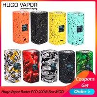 Originale E cigs Hugo Vapore  Piuttosto ECO 200W Box MOD Light-peso Sigaretta Elettronica mod da dual 18650 vs Thro Pro Vape mod