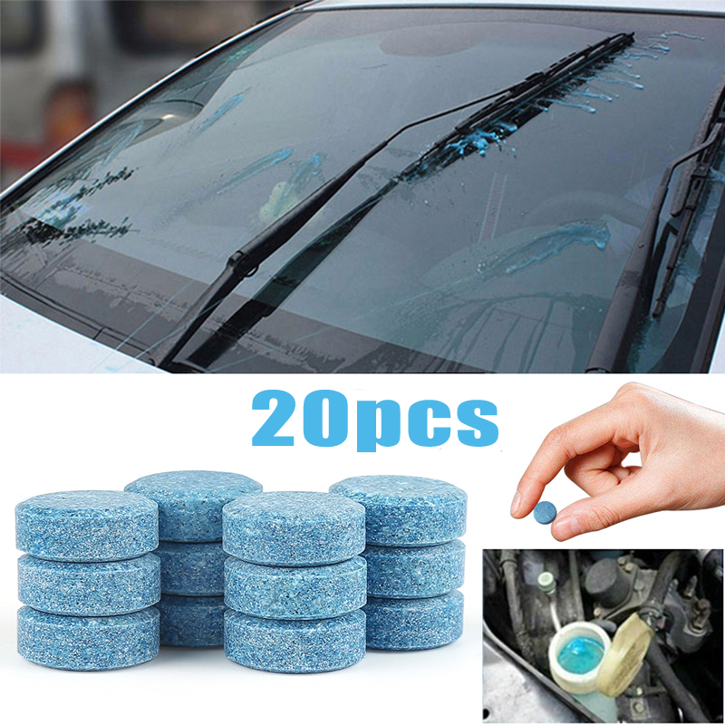 20Pcs/Lot Car Solid Wiper Fine Seminoma Wiper Auto Window Cleaning Multifunctional Effervescent Tablet Windshield Glass Cleaner
