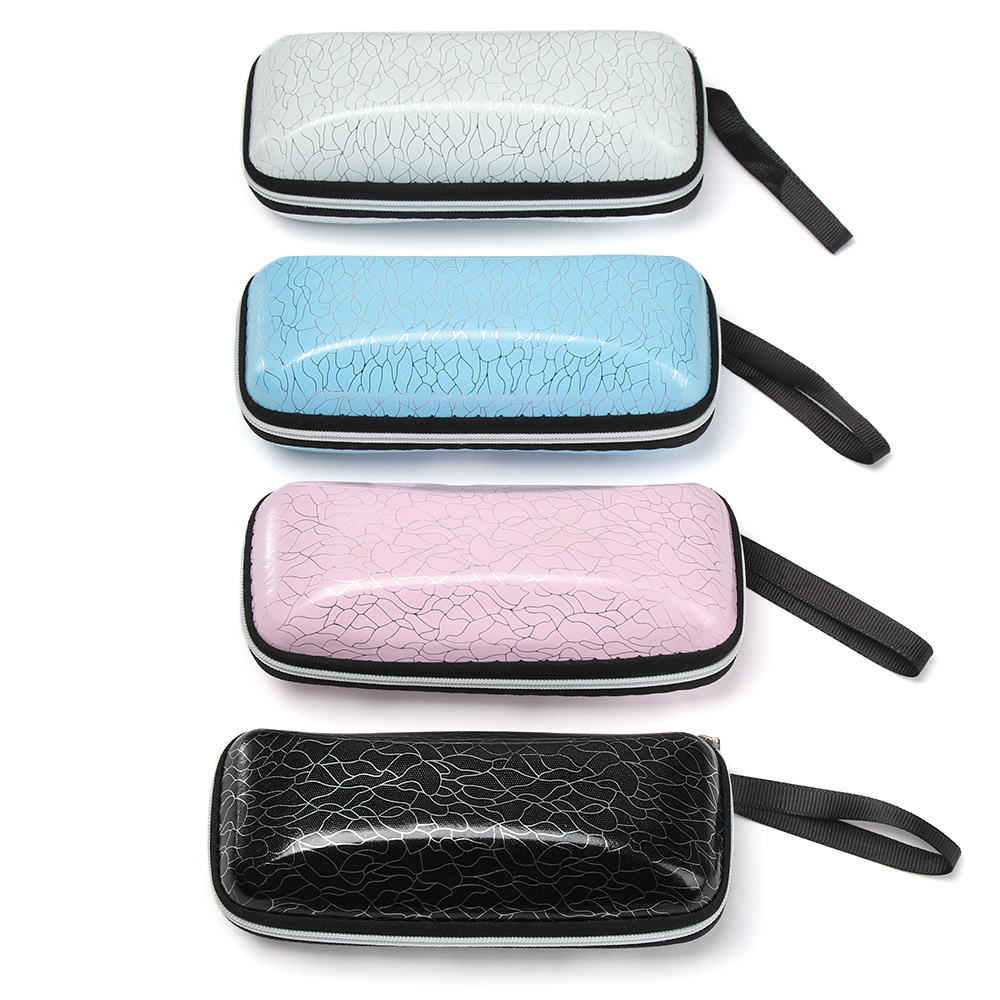 New EVA Eyewear Cases Cover Sunglasses Case For Women Men Glasses Box With Lanyard Zipper Eyeglass Cases Hard Zipper Box