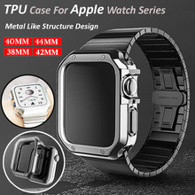 Watch Case For Apple Watch Series 6 SE 5 4 3 2 44mm 40mm New TPU Plating Protective Cover Shell For Iwatch 42mm 38mmAccessories