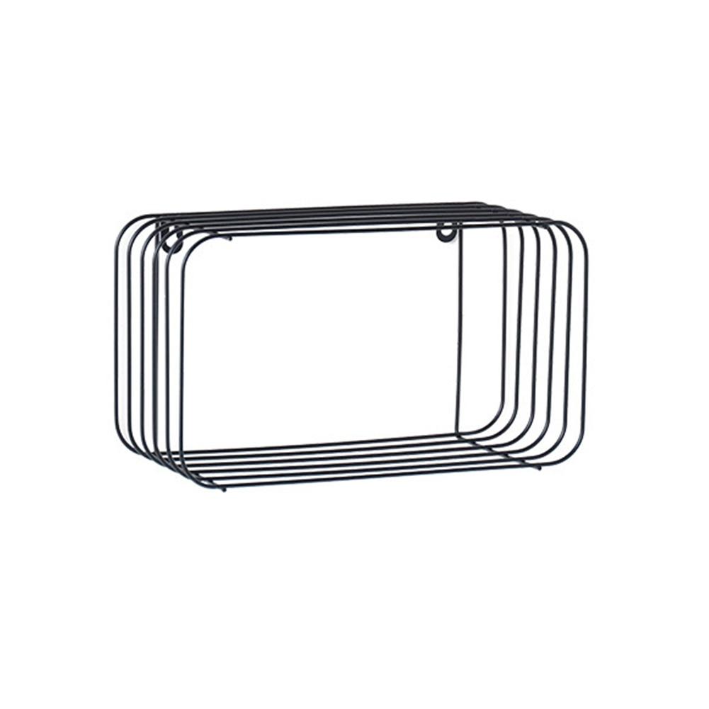 Estante de pared multifunción de hierro forjado INS minimalista nórdico, estante de pared innovador para el hogar, dormitorio, estante de almacenamiento de pared de baño