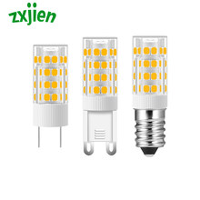 G4 G9 E14 Lamp Base Led Corn Lamp 7W Warm/Cold White AC220V-240V 360 Degree Beam Angle Mini LED Bulb Light