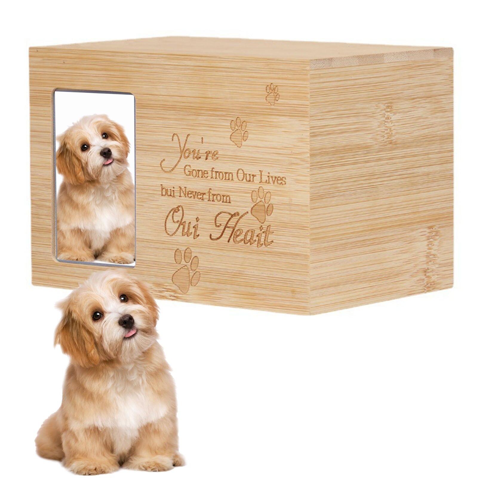 Bamboo Urns Pet Dog Cat Birds Mouse Cremation Ashes Urn Keepsake Casket Columbarium Animal Memorial Funeral Cremation Gaudily