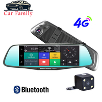 4G 8 Inch Android 5.1 Car DVR Dash Cam Car Rearview Mirror Dash Camera Dual Lens GPS Navigation Wifi Bluetooth Recorder