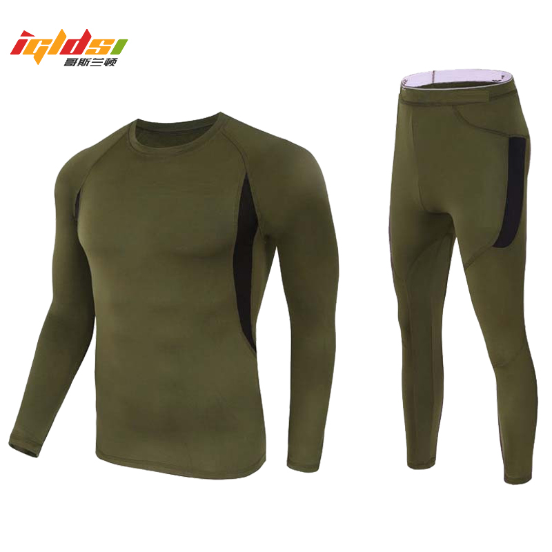 Men's Thermal Winter Fleece Tactical Underwear Uniforms Military Army Polartec Compression Underwear Clothing Lightweight Sets