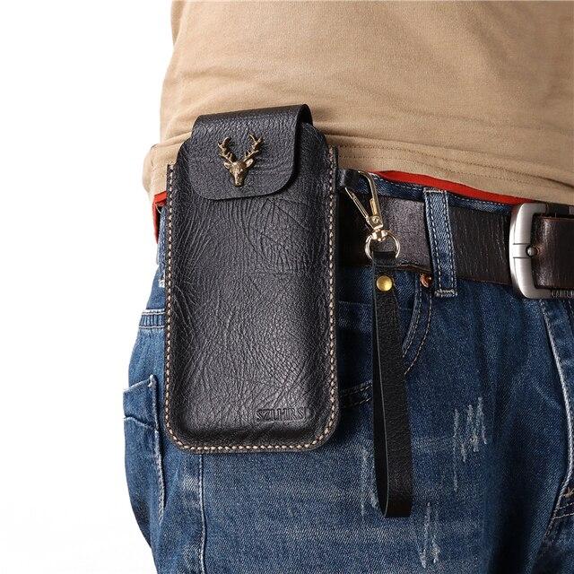 Blackview BV9700 Pro di lavoro Allaperto clip da cintura 100% Cassa Del Cuoio Genuino di Blackview BV9800 Pro calotta di protezione Del Telefono del sacchetto della vita