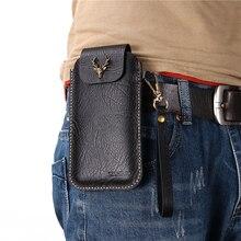 Blackview bv9700 pro clipe de cinto negócios ao ar livre 100% caso couro genuíno blackview bv9800 pro telefone capa protetora saco da cintura