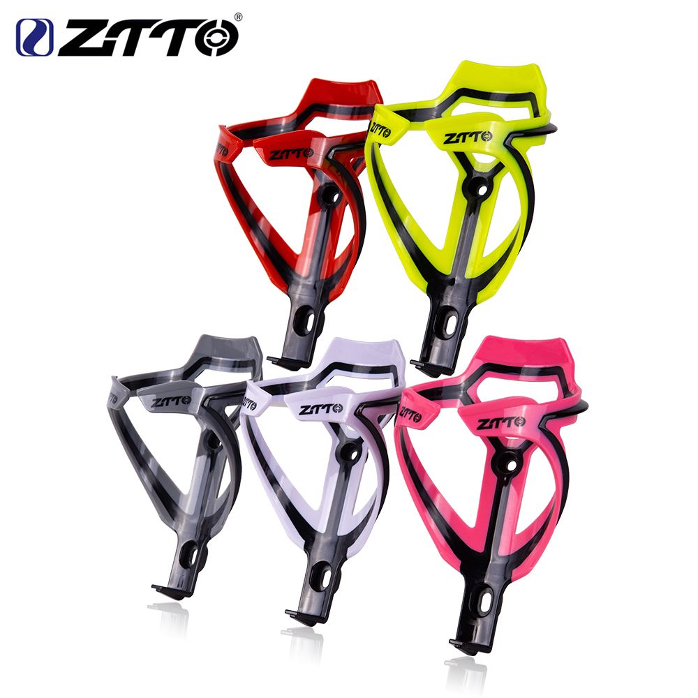 ZTTO MTB road bike Bottle Cage Water Bottle Holder Socket Two tone Ultralight Plastic Gray Pink Bicycle Part|Bicycle Bottle Holder| - AliExpress