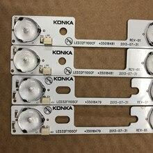 8 Pièces/lot POUR Konka LED32F1100CF LCD rétro éclairage lampe 35020125 35020126 100% NOUVEAU