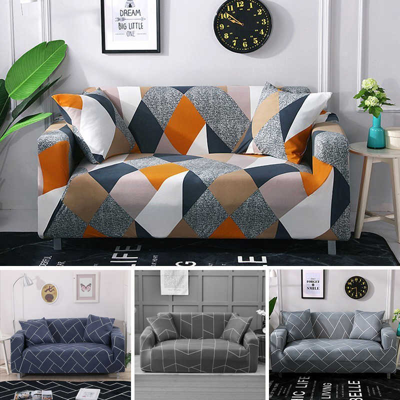Europe Floral Sofa Cover Elastic Polyester Sectional L Shape Couch Slipcover Home Decorative 1/2/3/4 Seat 4 Season Sofa Towel