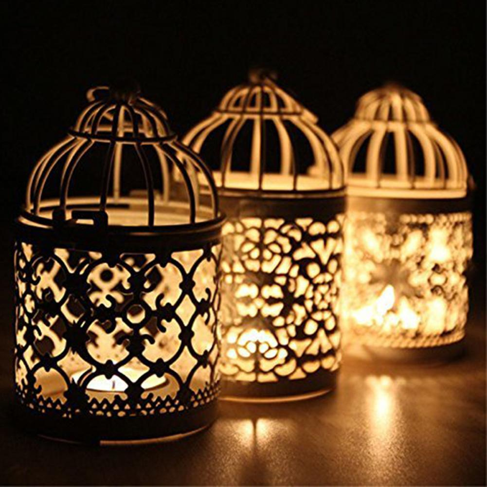 1pc Metal Tealight Candle Holder Hanging Lanterns Birdcage Candlestick Wedding Candlelight Dinner Party Home Table Decor