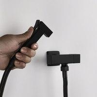 Handheld Toilet bidet sprayer set Kit Stainless Steel Hand Bidet faucet for Bathroom hand sprayer shower head self cleaning
