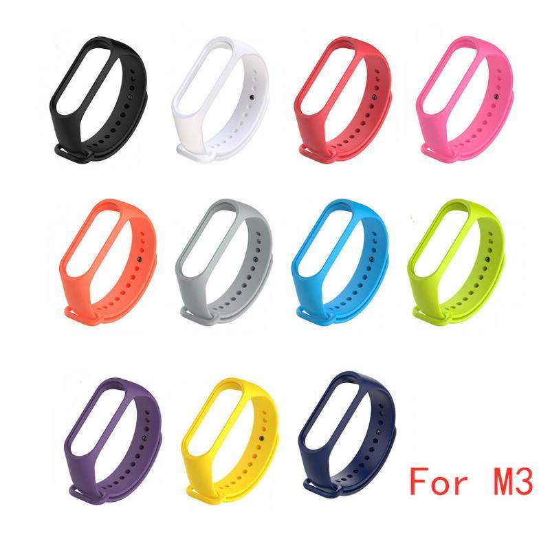Silicone Watch Strap For MI Band 3 Xiaomi Smart Strap Replacement Wristband Strap For Miband 3 Smart Bracelet