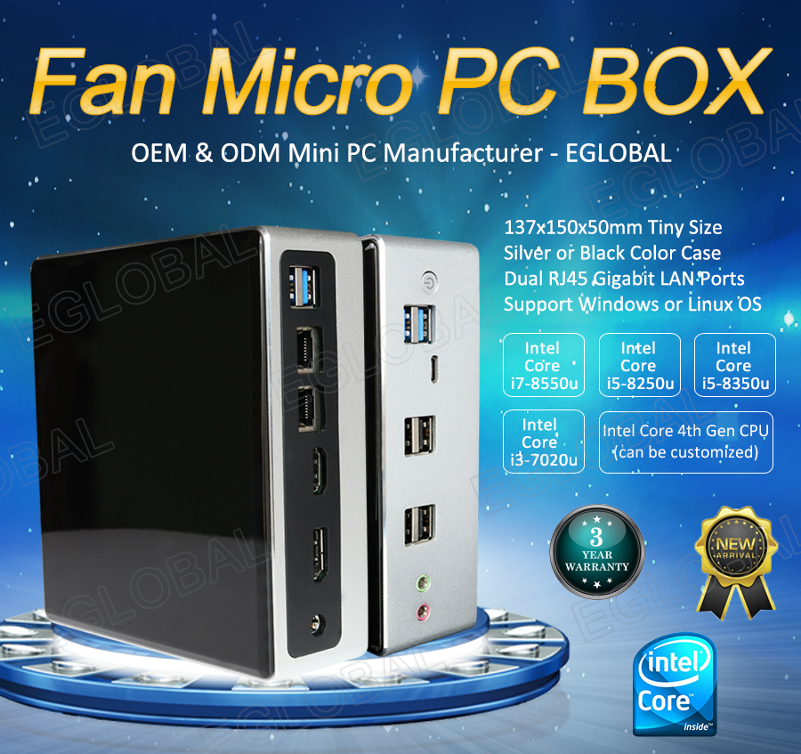 8th Gen Mini PC Gamer Intel i7 8550U i5 8250U Barebone 2*DDR4 Windows 10 NUC Desktop Computer Wind10 Pro Linux WiFi DP HDMI