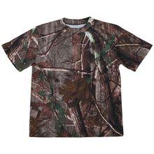 Новая уличная камуфляжная футболка для охоты, Мужская дышащая Боевая футболка, сухая Спортивная камуфляжная футболка для лагеря