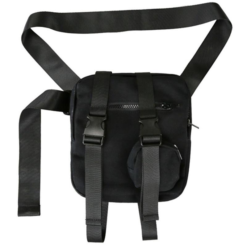 Belt Pockets Men's And Women's Fashion Street Windbreaker Pockets Hips Chest Pockets Small Canvas Shoulder Bag