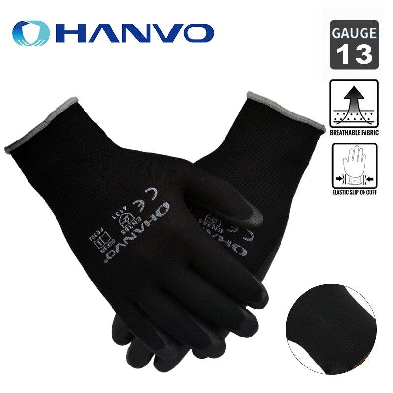 1/3 Pair Household Gloves Non-slip Wear-resistant Breathable Labor Work Garden PU Work Gloves